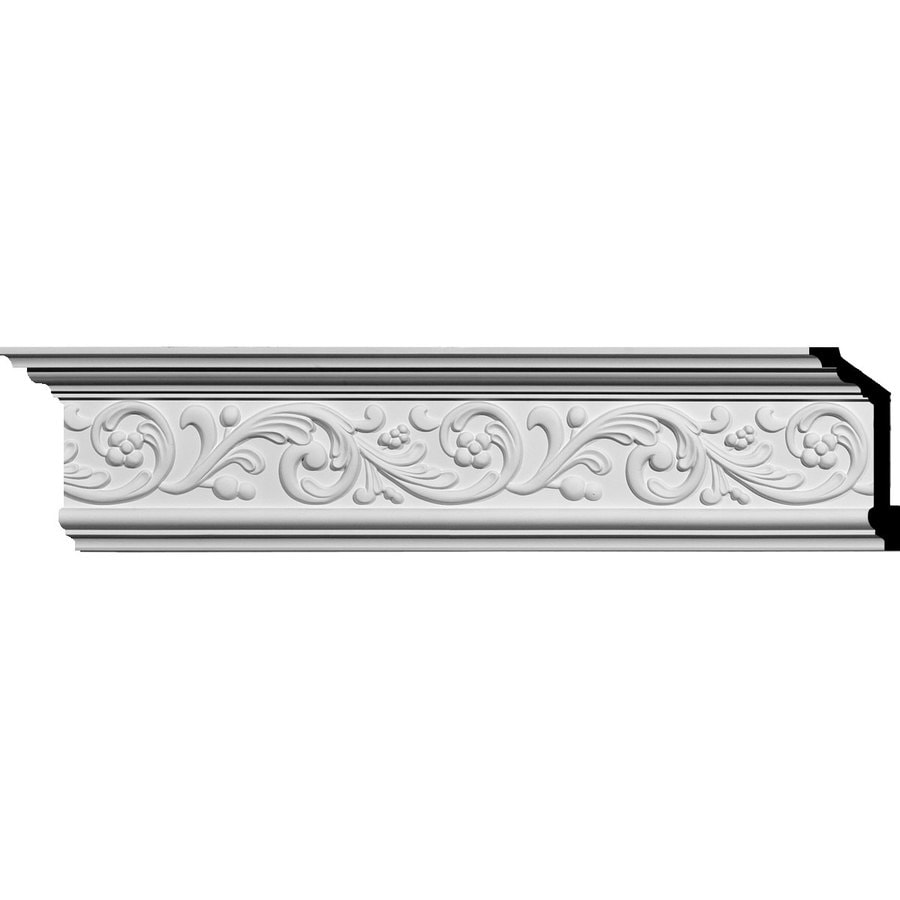 Ekena Millwork 5.875-in x 7.89-ft Primed Polyurethane Crown Moulding