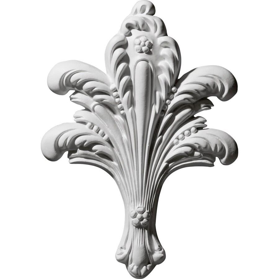 Ekena Millwork 6.25-in x 8.75-in Leaf Bundle Primed Urethane Applique