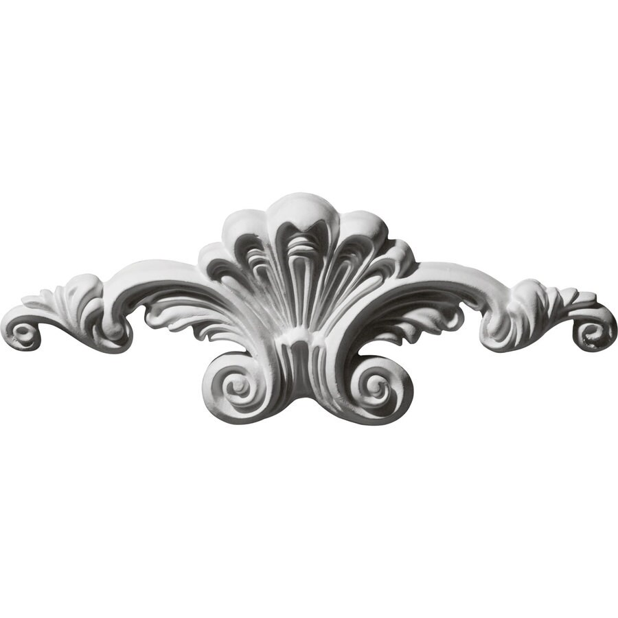 Ekena Millwork 8.625-in x 3.125-in Scroll Primed Urethane Applique