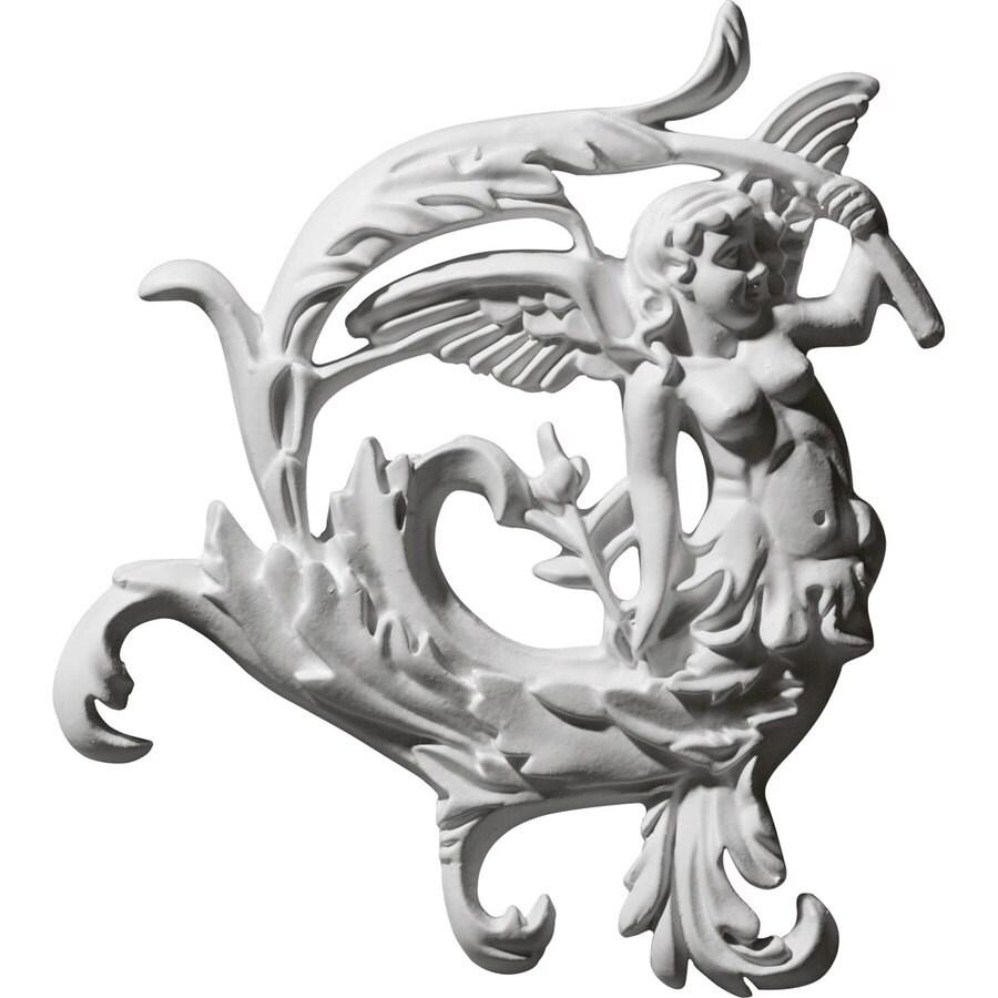 Ekena Millwork 8.25-in x 8.625-in Angel Leaf Urethane Applique
