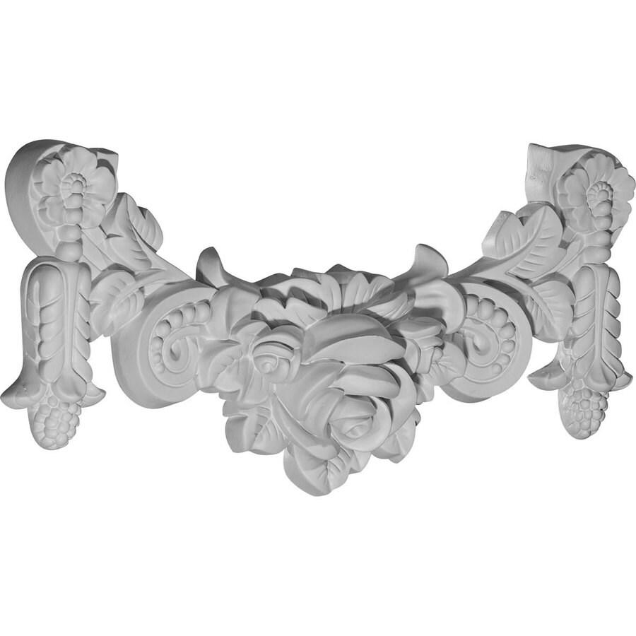 Ekena Millwork 14.25-in x 7-in Rose Primed Urethane Applique