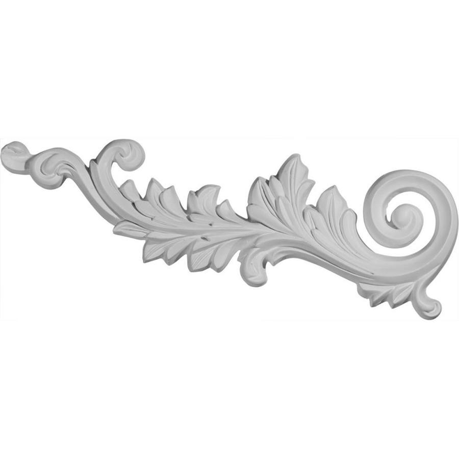 Ekena Millwork 15.75-in x 5.125-in Robin Scroll Urethane Applique