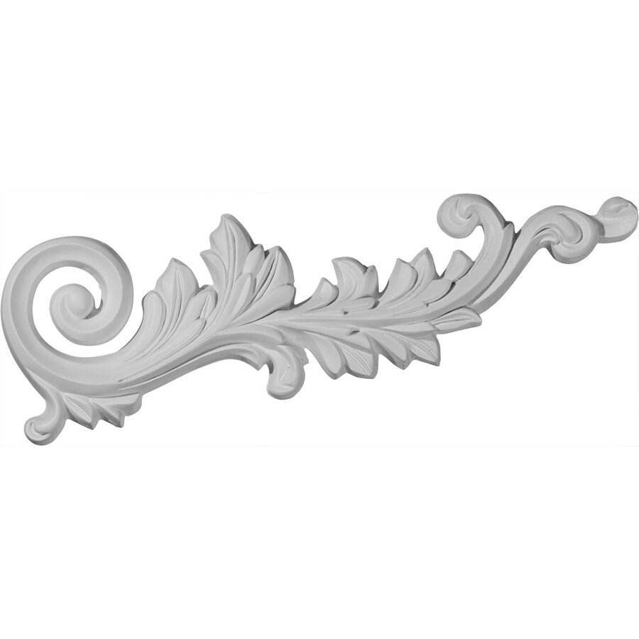 Ekena Millwork 15.75-in x 5.125-in Robin Scroll Primed Urethane Applique