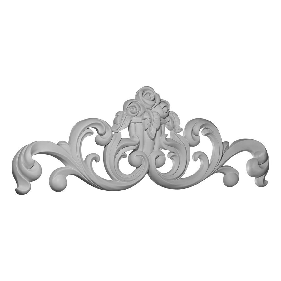 Ekena Millwork 35.125-in x 12.5-in Flower Basket Urethane Applique