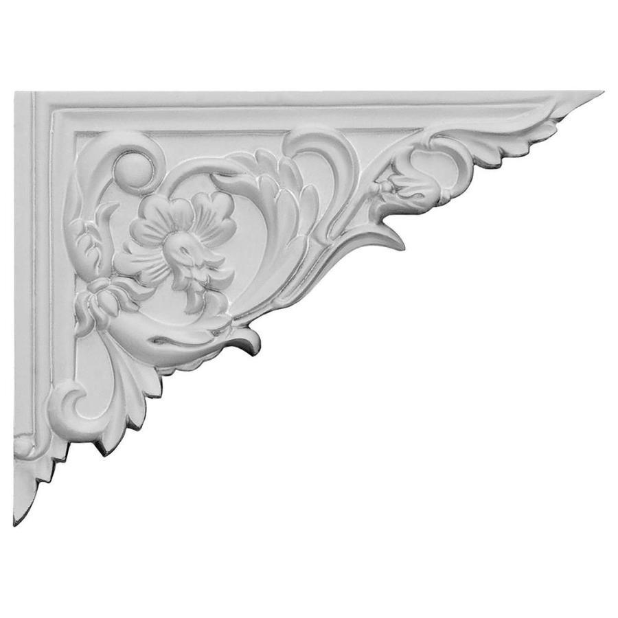 Ekena Millwork 8.625-in x 6.25-in Flower Primed Urethane Applique