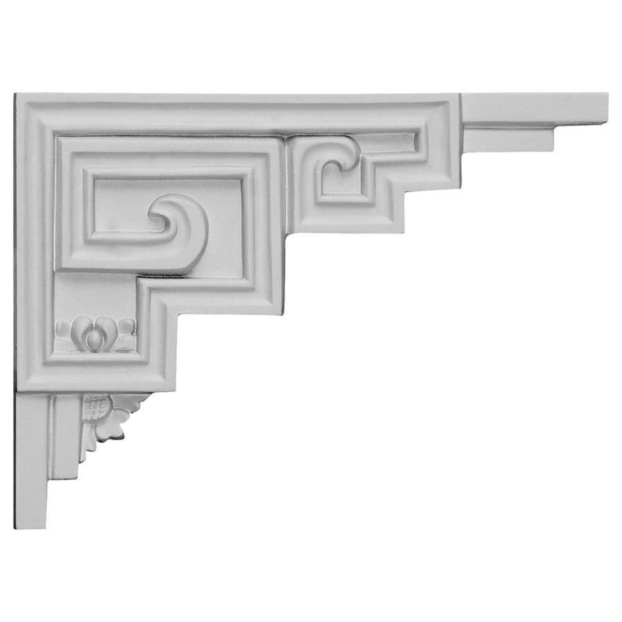Ekena Millwork 9-in x 6.5-in Austin Primed Urethane Applique