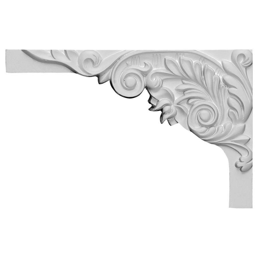 Ekena Millwork 11-in x 7-in Springtime Primed Urethane Applique