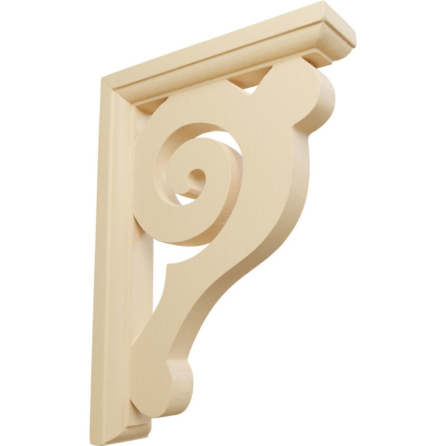 Ekena Millwork 1.5-in x 8.5-in Maple Bulwark Wood Corbel