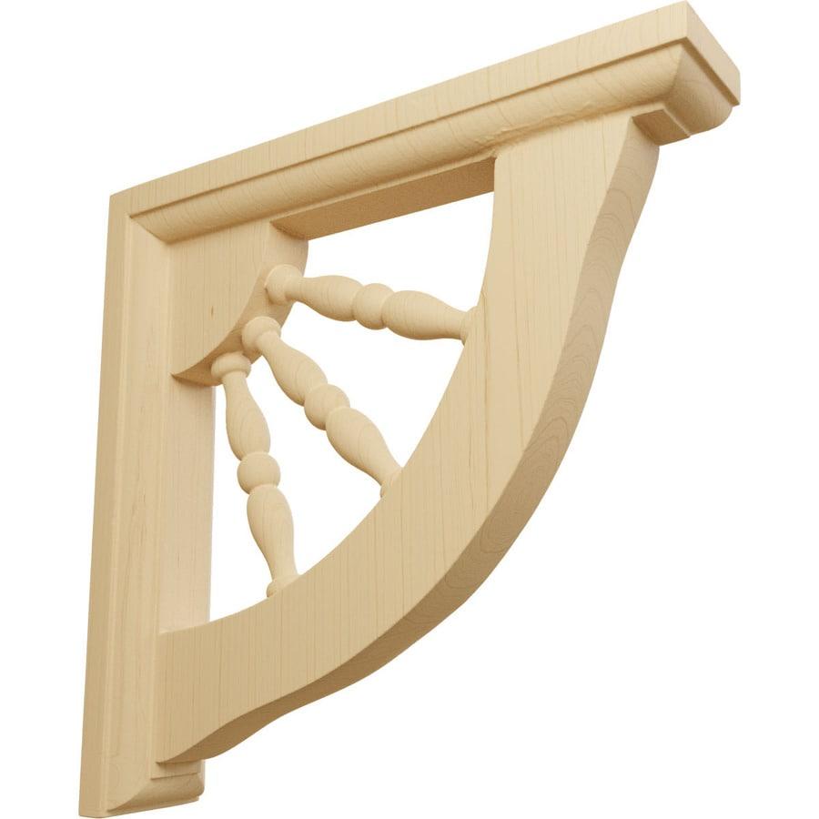 Decorative Wooden Shelf Brackets Shop Ekena Millwork 15 In X 7 In Alder Andrea Wagon Wheel Wood