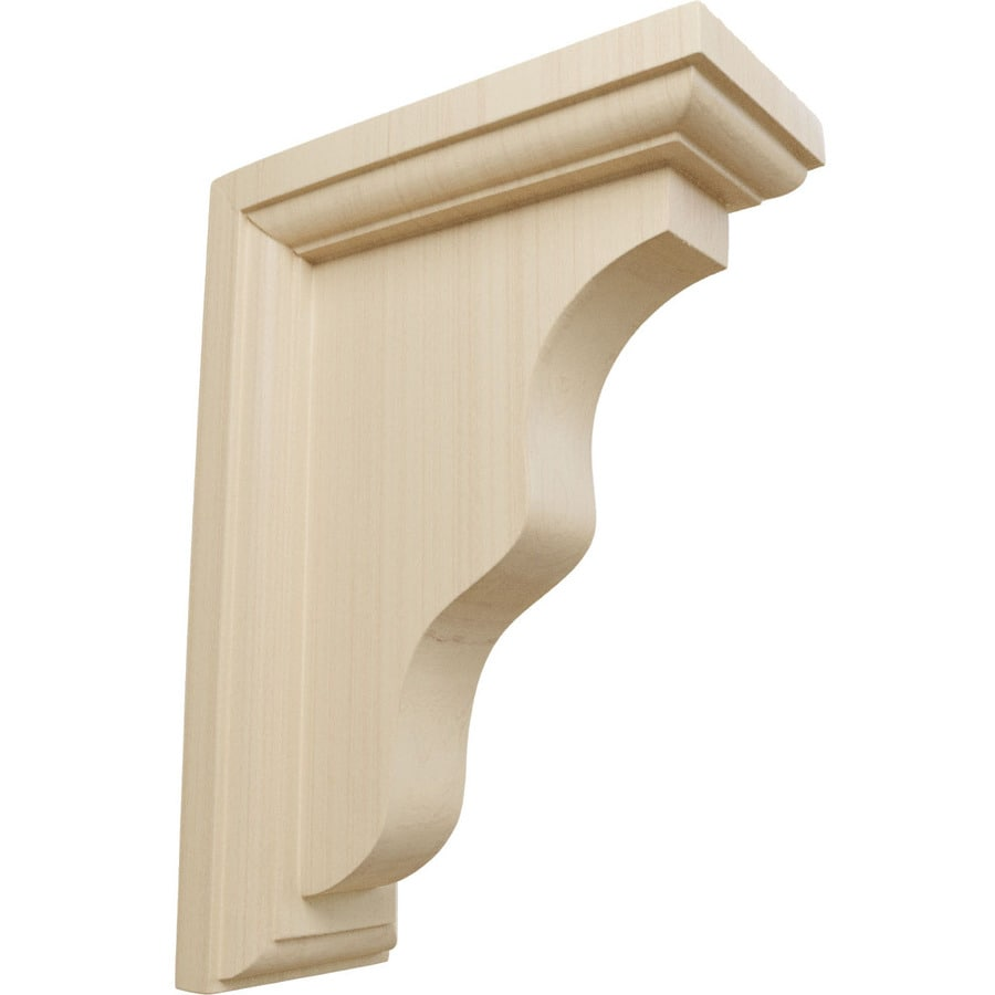 Shop ekena millwork x 7 in rubberwood corbel at for Architectural corbels and brackets