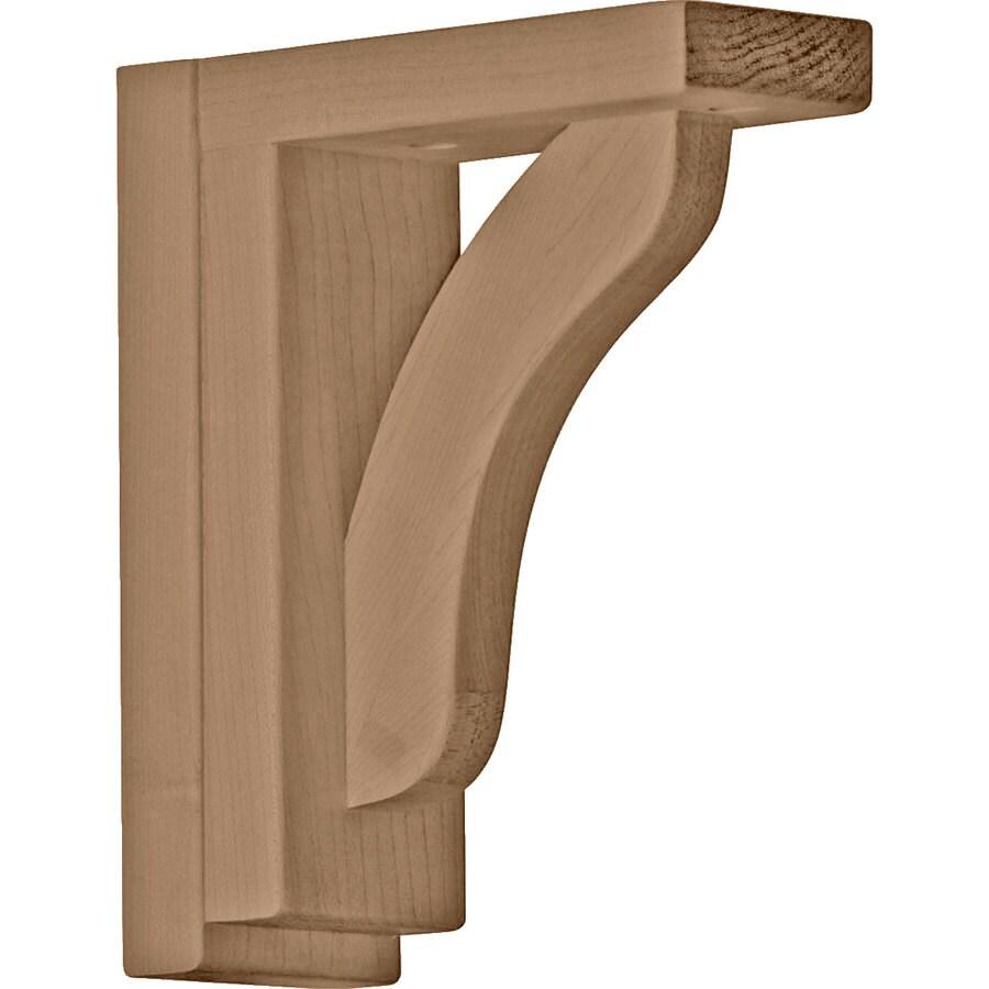 Ekena Millwork 2.5-in x 7.5-in Rubberwood Reece Wood Corbel