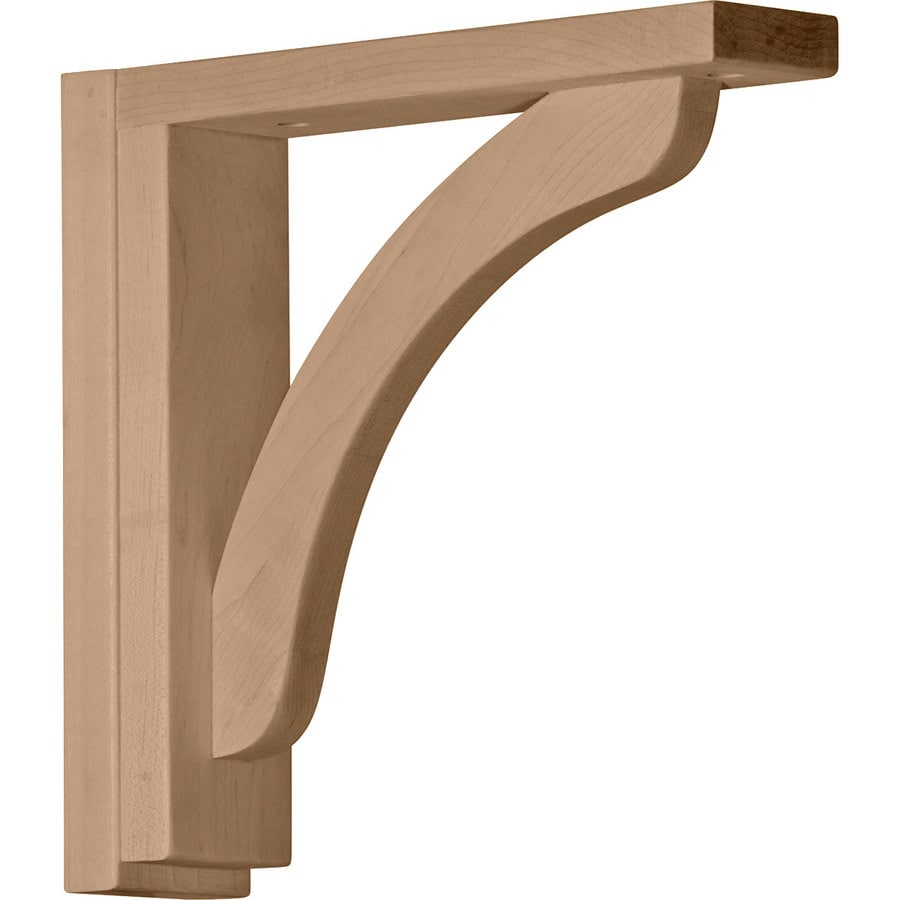 Ekena Millwork 2.5-in x 10.25-in Red Oak Reece Wood Corbel
