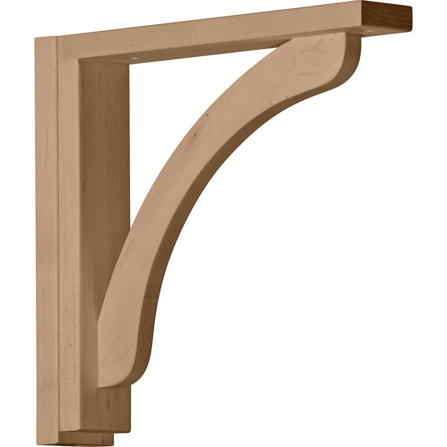 Ekena Millwork 2.5-in x 12.25-in Rubberwood Reece Wood Corbel