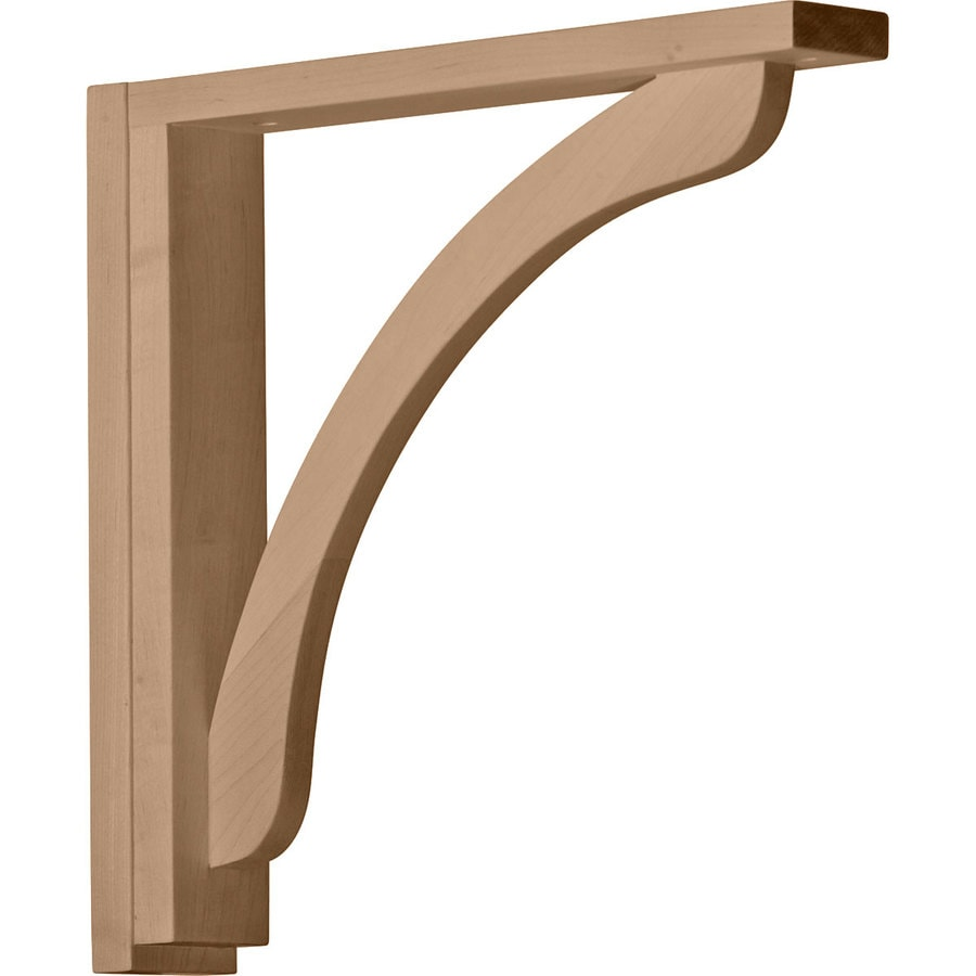 Ekena Millwork 2.5-in x 14.25-in Rubberwood Reece Wood Corbel