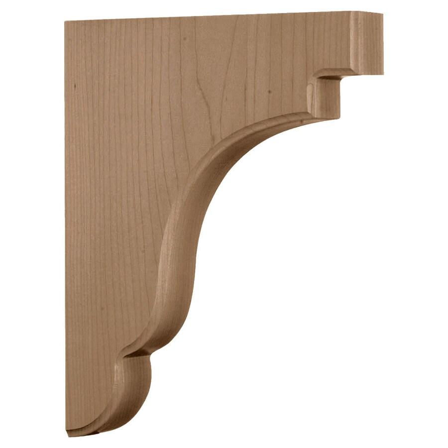 Ekena Millwork 1.75-in x 11-in Walnut Wood Corbel