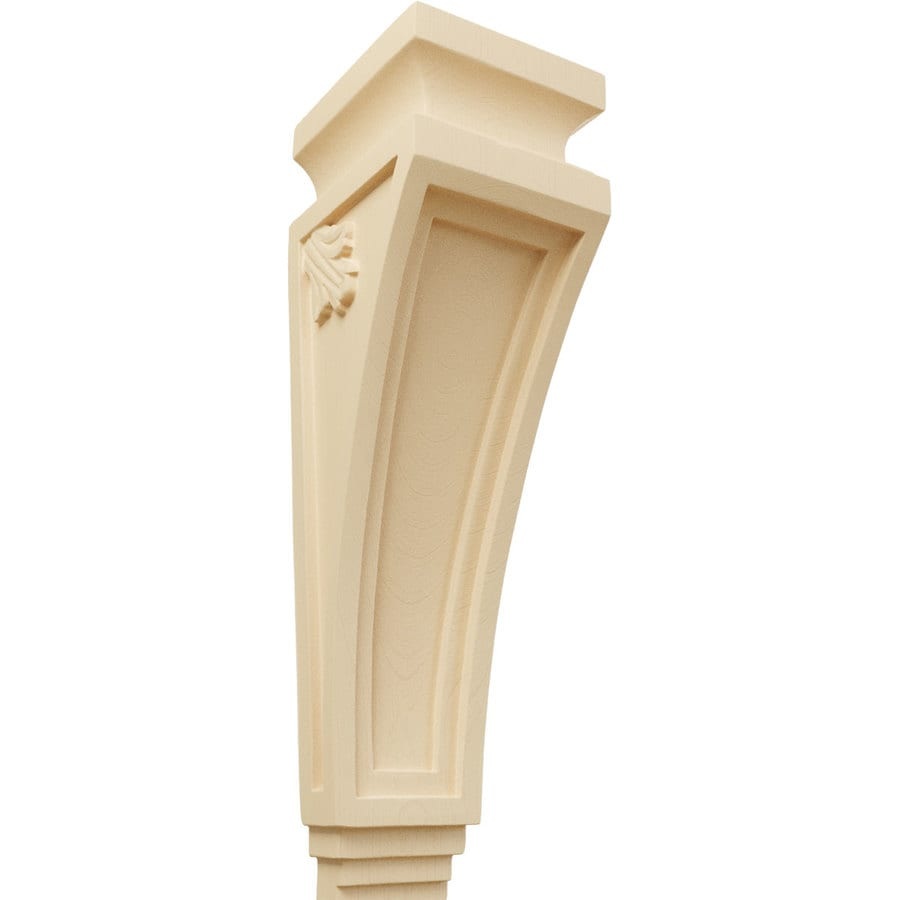 Ekena Millwork 3.875-in x 14-in Arts and Crafts Maple Corbel