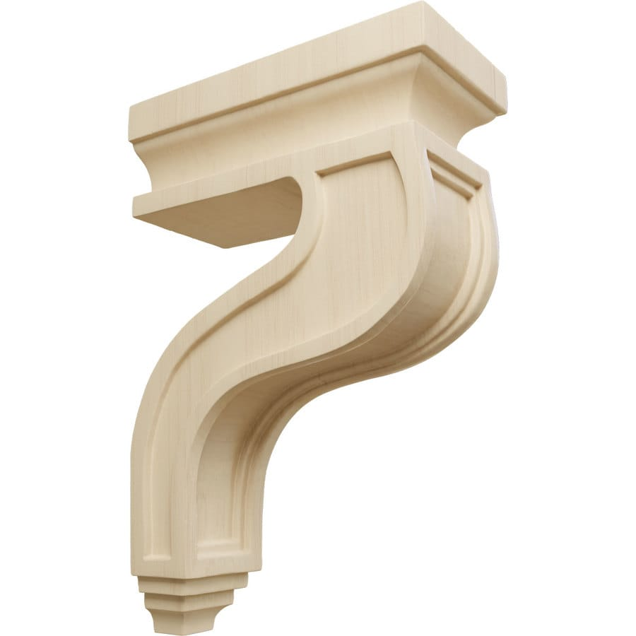 Ekena Millwork 3.5-in x 11-in Rubberwood Hollow Back Wood Corbel