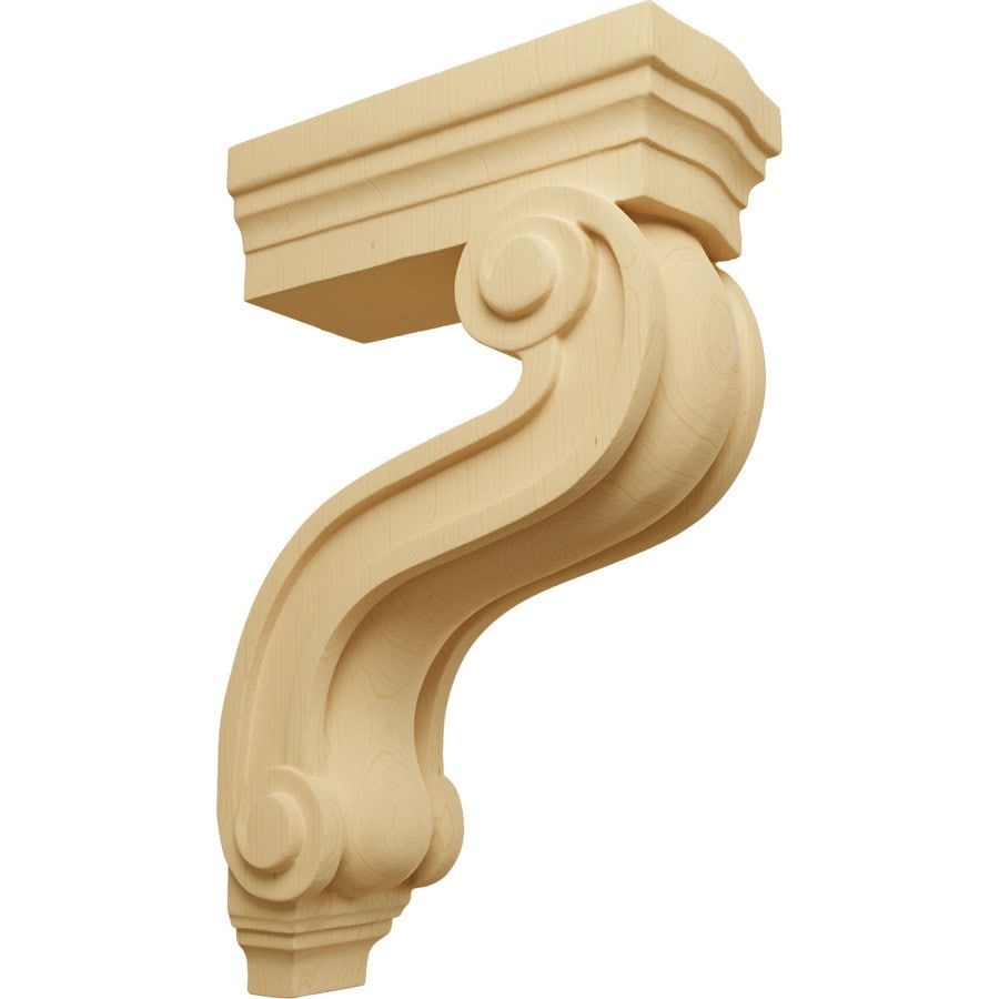 Ekena Millwork 3.875-in x 13-in Alder Los Angeles Wood Corbel