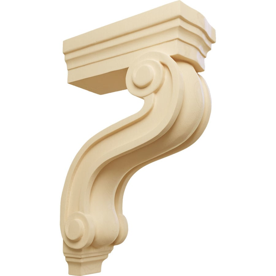 Ekena Millwork 3.875-in x 13-in Maple Los Angeles Wood Corbel