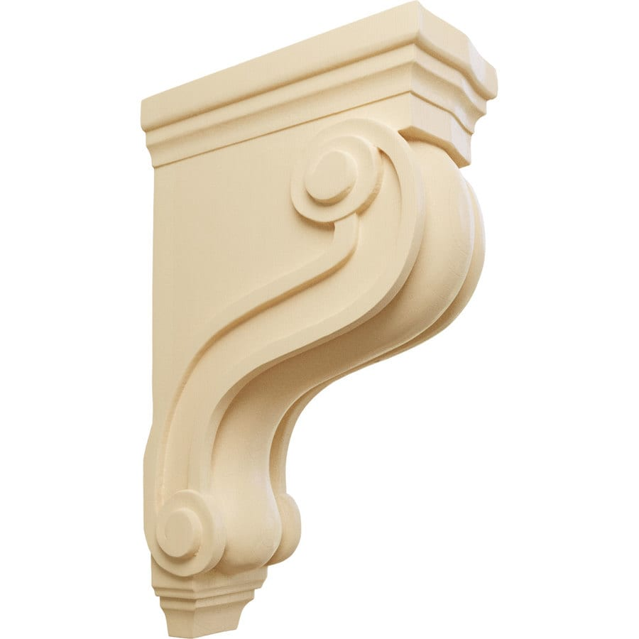 Ekena Millwork 3.875-in x 13-in Boston Traditional Scroll Maple Corbel