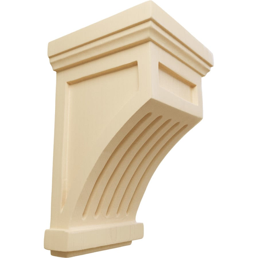 Ekena Millwork 4.25-in x 7-in Maple Fluted Mission Wood Corbel