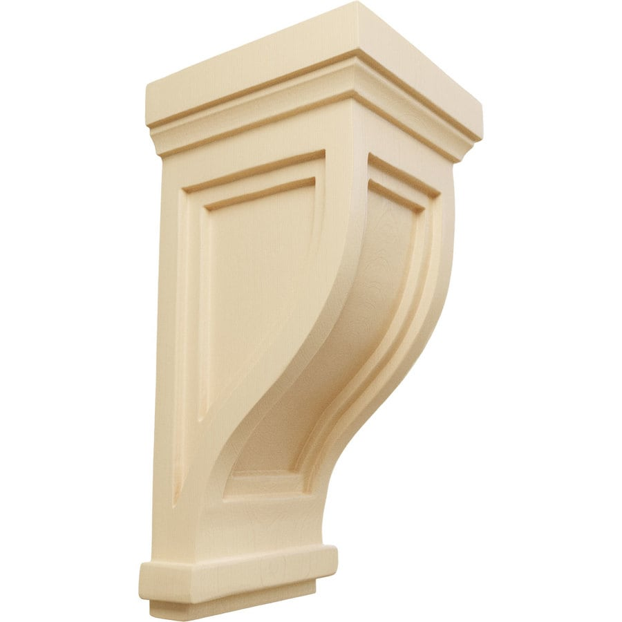 Ekena Millwork 4.75-in x 10-in Maple Traditional Recessed Wood Corbel