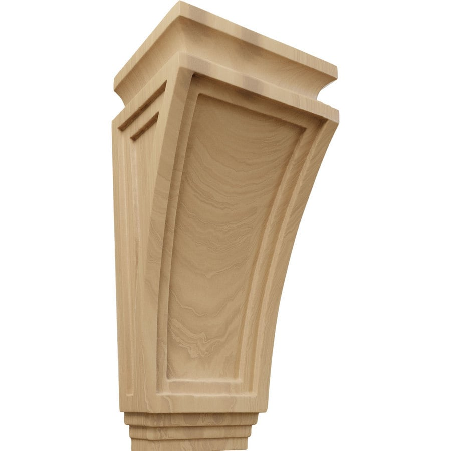 Ekena Millwork 6-in x 12-in Cherry Arts and Crafts Wood Corbel