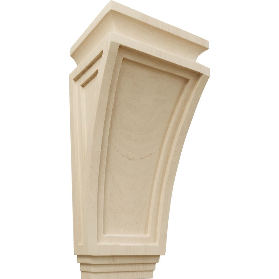Ekena Millwork 6-in x 12-in Arts and Crafts Rubberwood Corbel