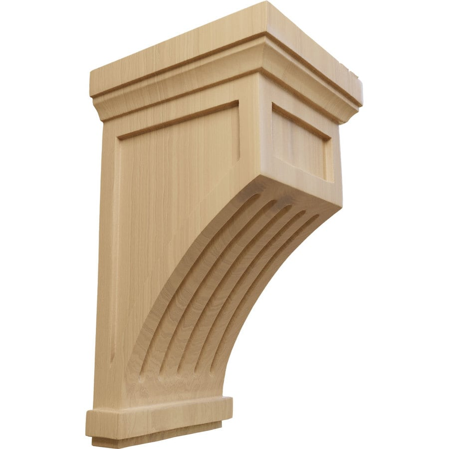 Ekena Millwork 7-in x 13-in Cherry Fluted Mission Wood Corbel