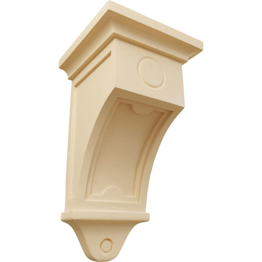 Ekena Millwork 7.5-in x 14-in Maple Arts and Crafts Wood Corbel