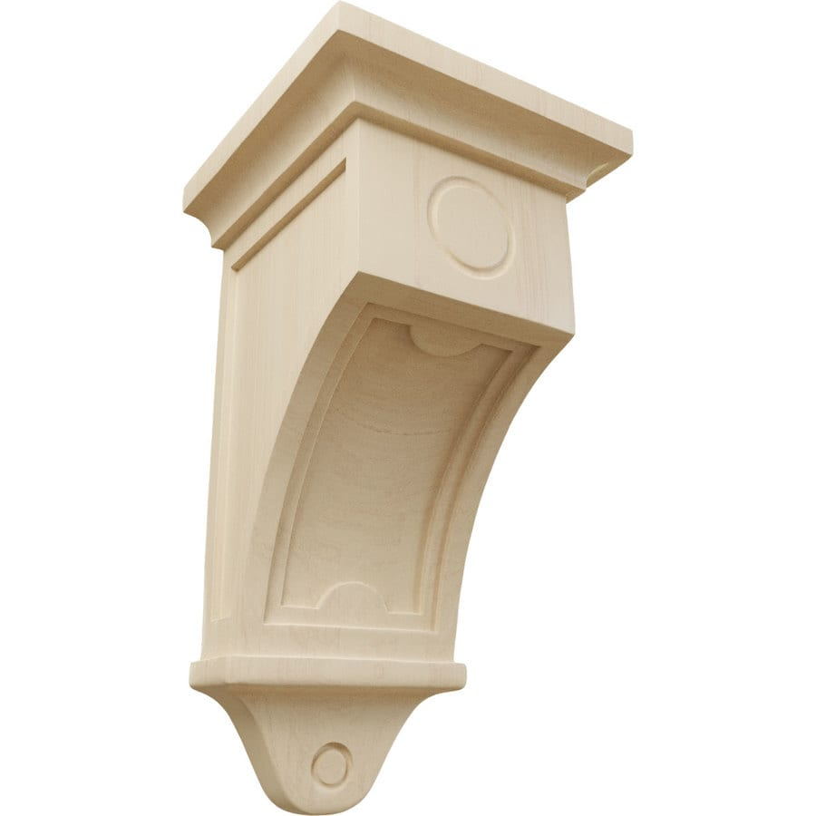 Ekena Millwork 7.5-in x 14-in Rubberwood Arts and Crafts Wood Corbel