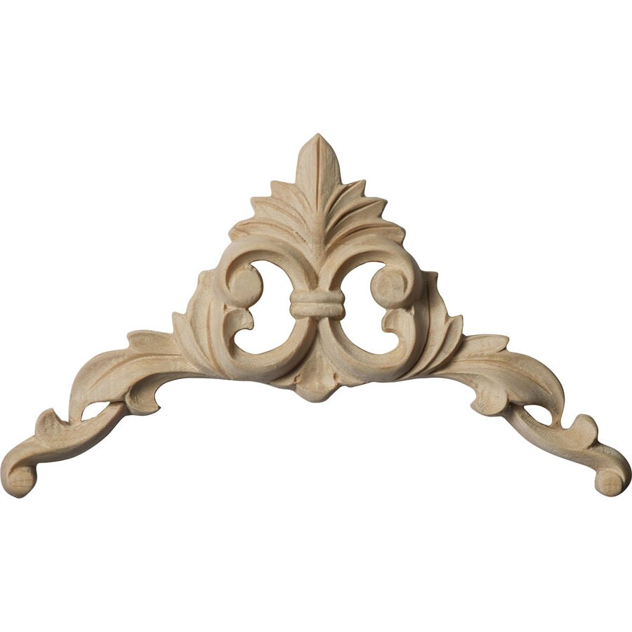 Shop ekena millwork 4 in x 4 in lindenwood applique at for Decorative wood onlays