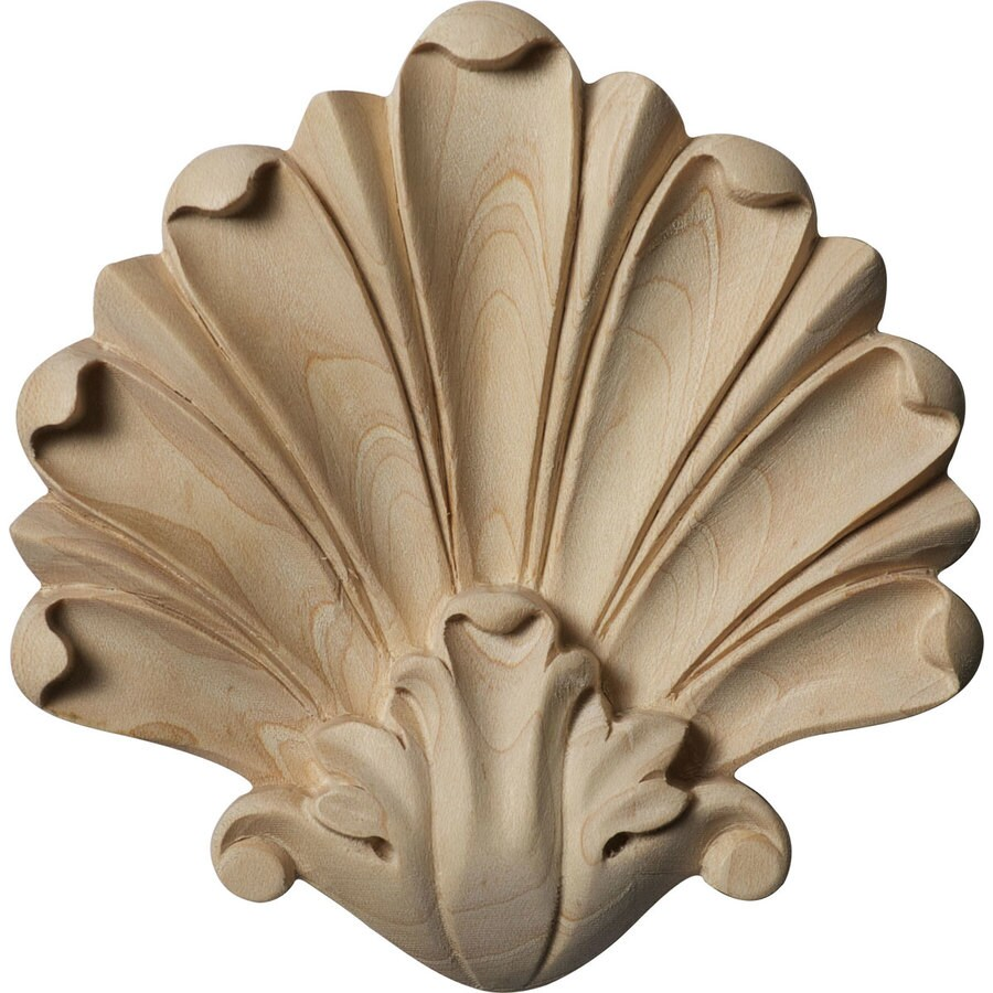 Ekena Millwork 4.5-in x 4.5-in Foster Wood Applique