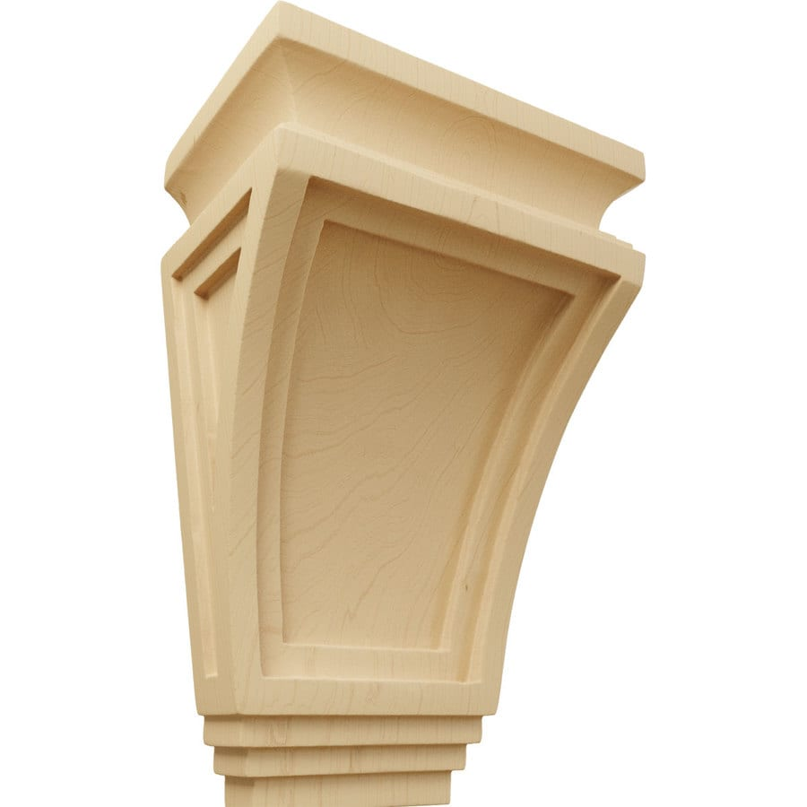 Ekena Millwork 6-in x 9-in Alder Arts and Crafts Wood Corbel