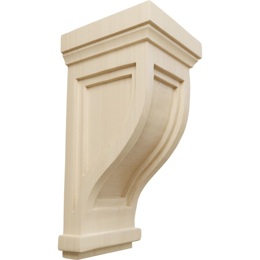 Ekena Millwork 4.75-in x 10-in Traditional Recessed Rubberwood Corbel