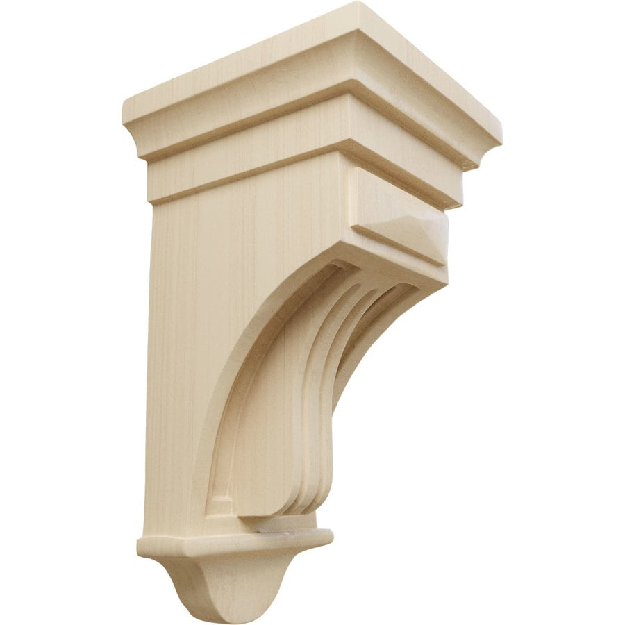 Ekena Millwork 5.5-in x 10-in Rubberwood Raised Fluting Wood Corbel