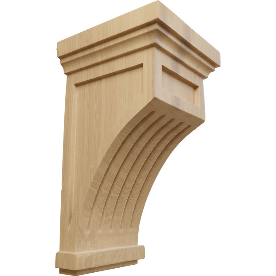 Ekena Millwork 5.5-in x 10-in Cherry Wood Corbel