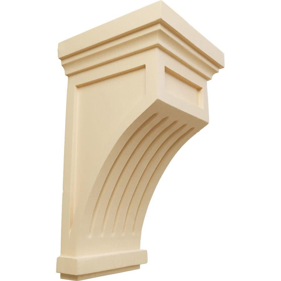 Ekena Millwork 5.5-in x 10-in Maple Fluted Mission Wood Corbel