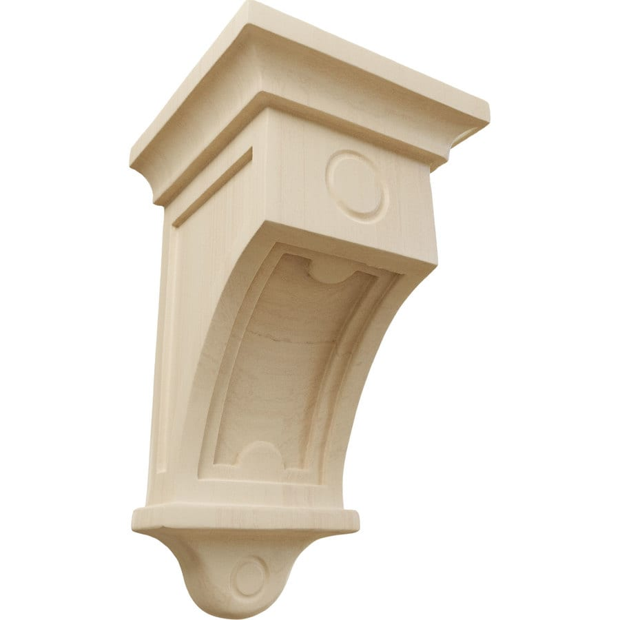Ekena Millwork 5-in x 9-in Arts and Crafts Rubberwood Corbel