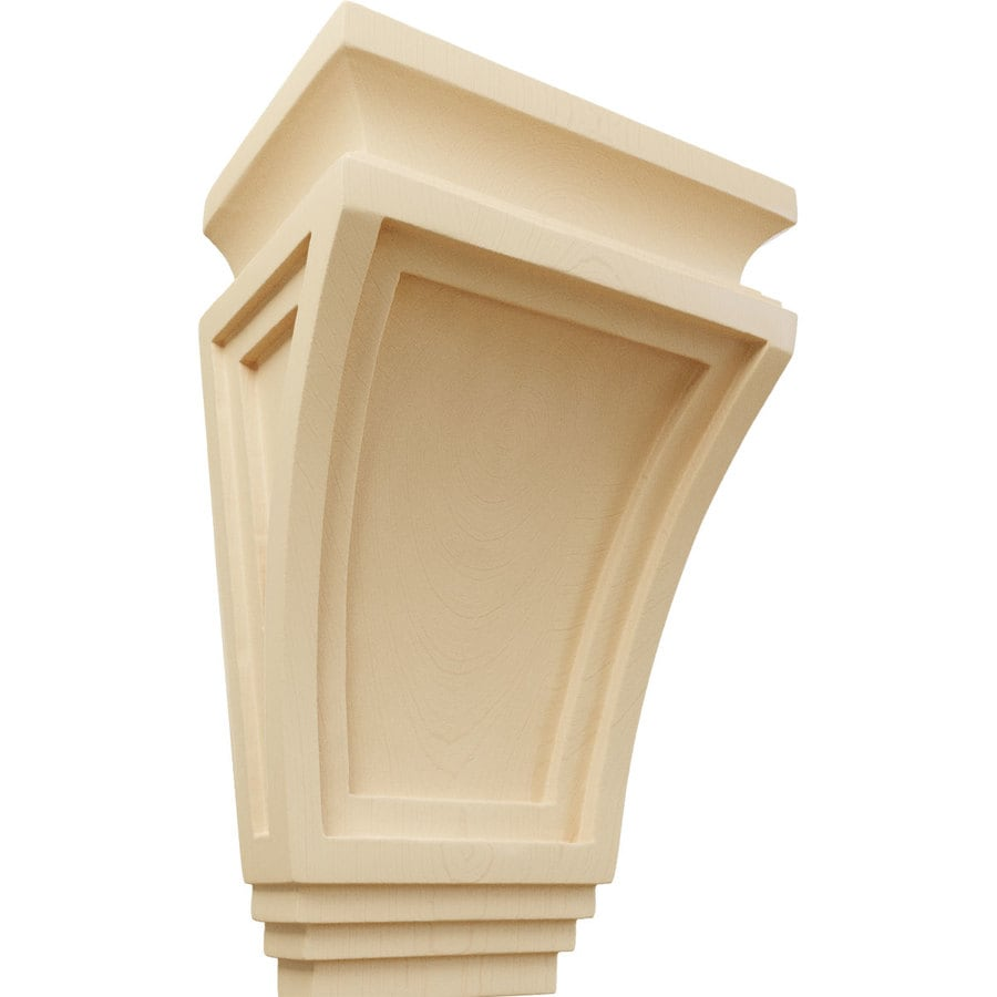 Ekena Millwork 6-in x 9-in Maple Arts and Crafts Wood Corbel