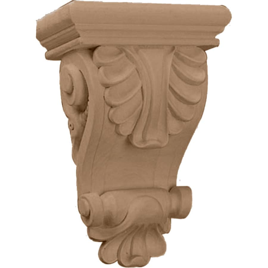 Ekena Millwork 6-in x 8.25-in Maple Acanthus Wood Corbel