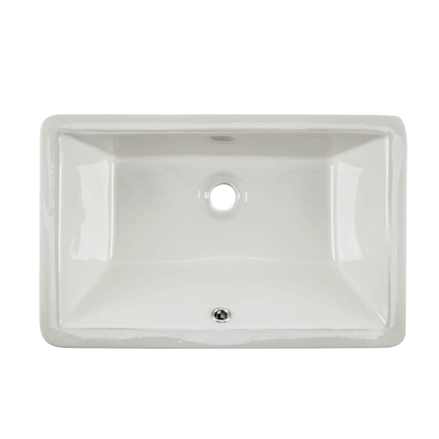 undermount bathroom sinks rectangular shop superior sinks biscuit glazed porcelain undermount 21132
