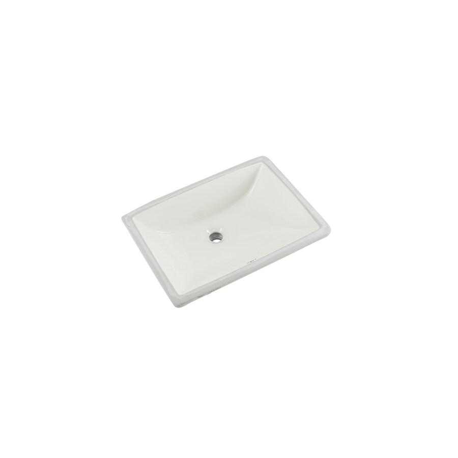 Superior Sinks Biscuit/Glazed Porcelain Undermount Rectangular Bathroom Sink with Overflow