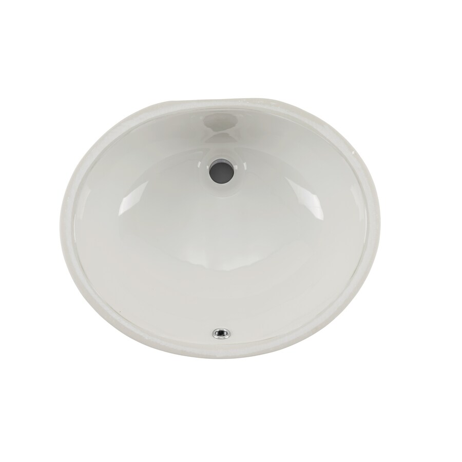 Superior Sinks Biscuit/Glazed Porcelain Undermount Oval Bathroom Sink with Overflow