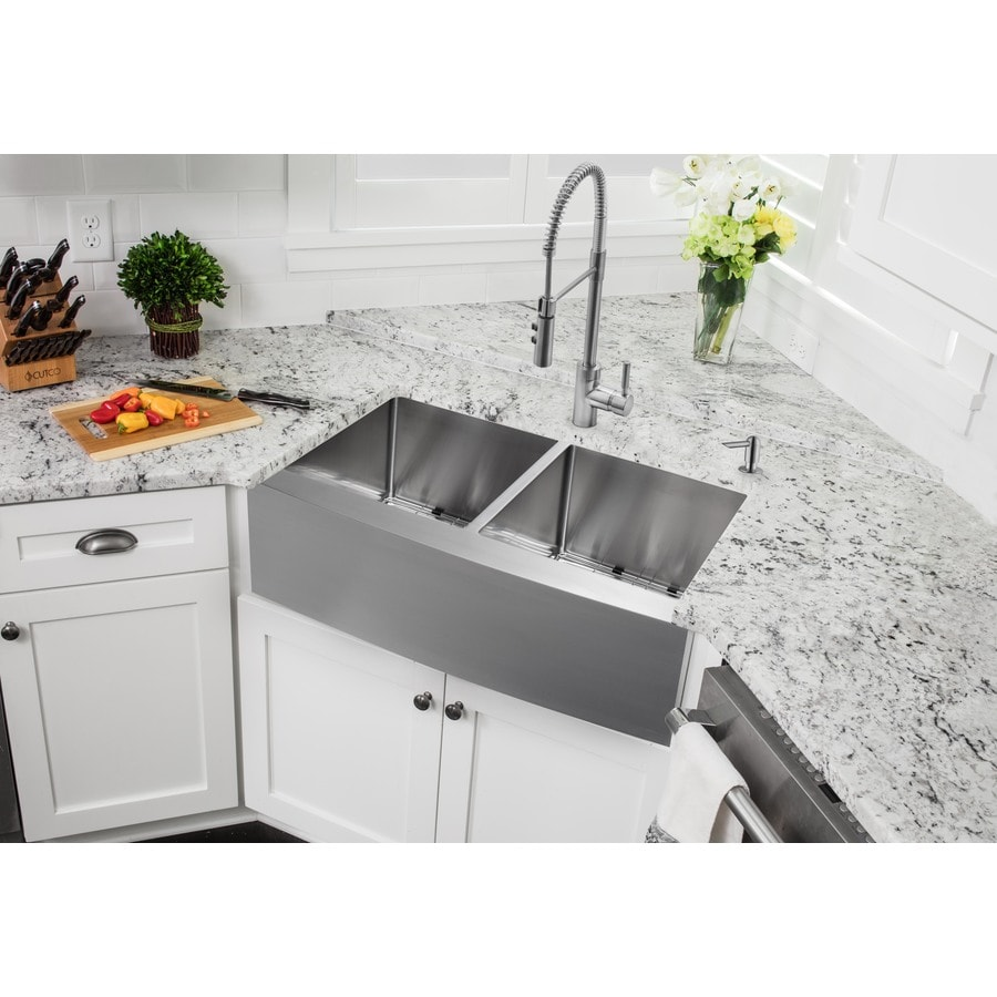 superior sinks 33in x 20in brushed satin doublebasin stainless steel
