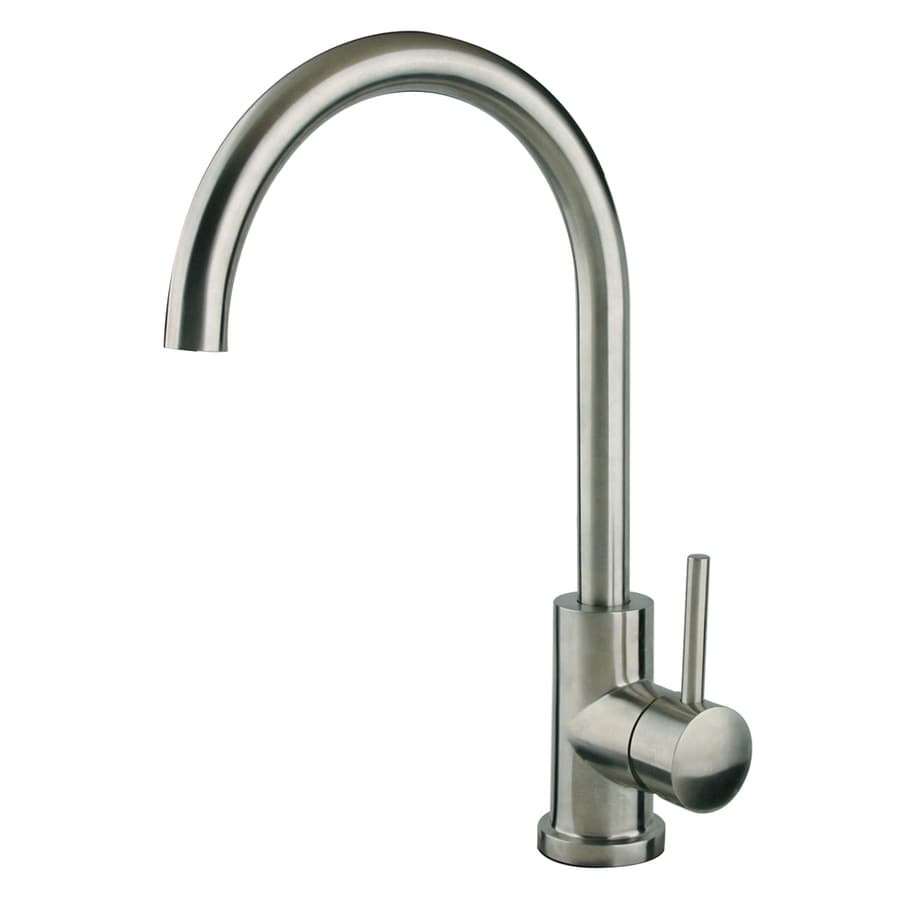 Superior Sinks Stainless Steel 1-Handle High-Arc Kitchen Faucet