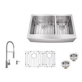 Kitchen Sinks At Lowes Shop kitchen sinks at lowes superior sinks 33 in x 20 in brushed satin double basin stainless steel workwithnaturefo