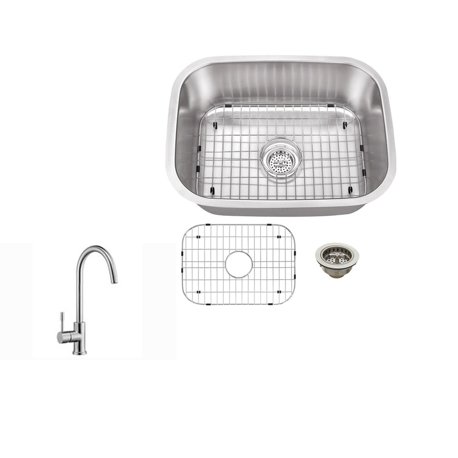 Superior Sinks Brushed Satin Single-Basin Stainless Steel Undermount Residential Bar Sink