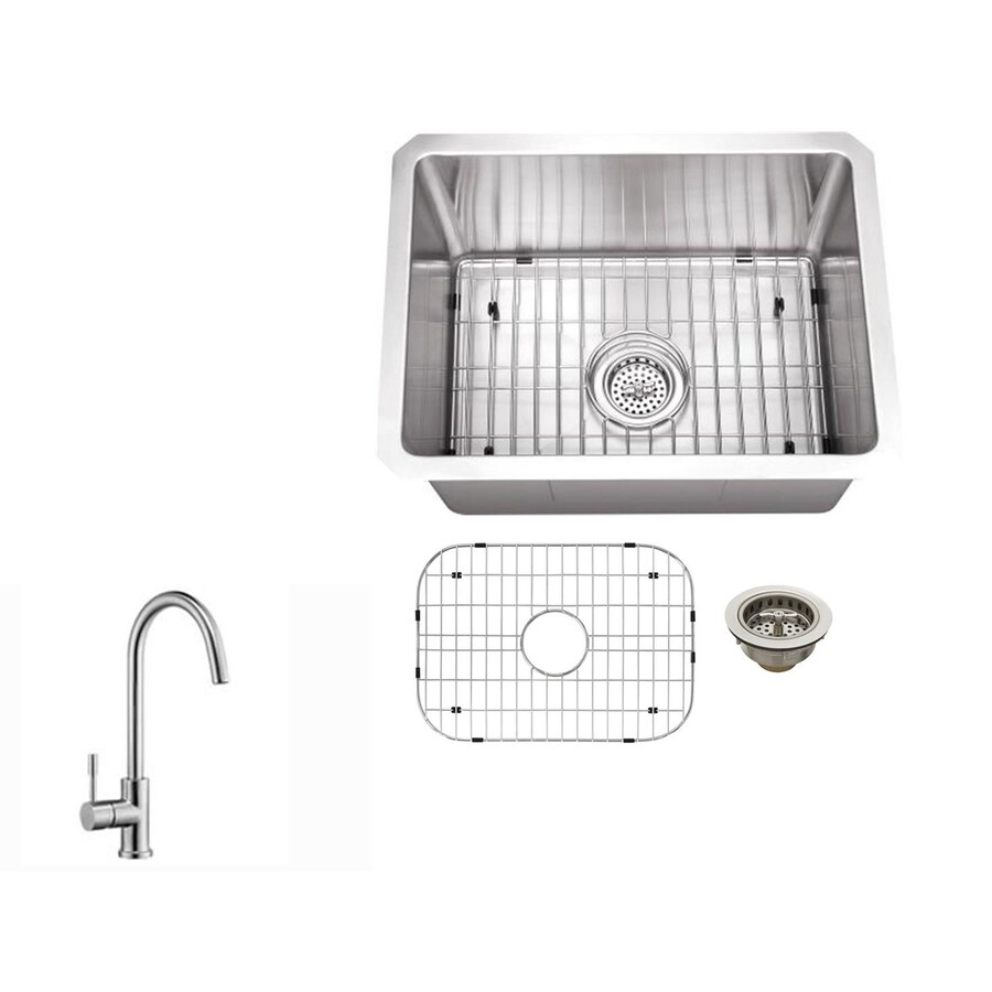 Superior Sinks Brushed Satin Single-Basin Stainless Steel Undermount  Residential Bar Sink