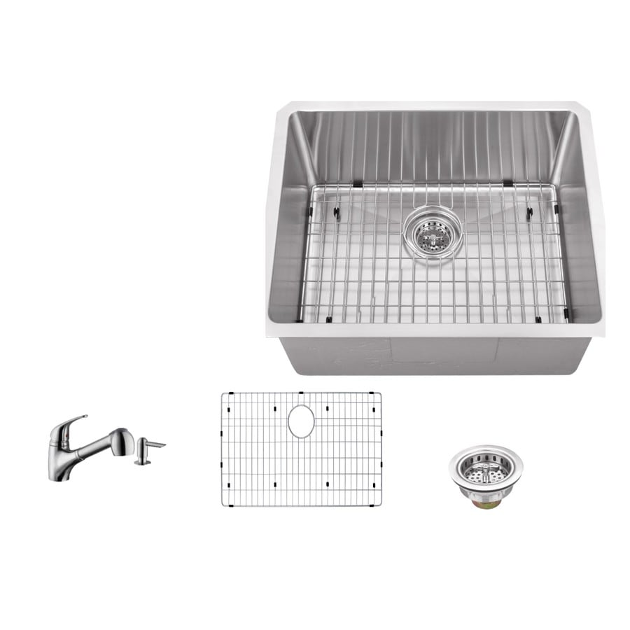 Superior Sinks Brushed Satin 1-Basin (Customizable)-Hole Stainless Steel Undermount Commercial/Residential Bar Sink